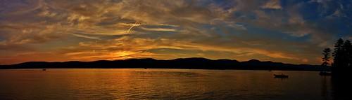 sunset sun lake mountains color reflection water silhouette clouds ma golden boat ryan massachusetts berkshire pittsfield onota grennan rwgrennan rgrennan