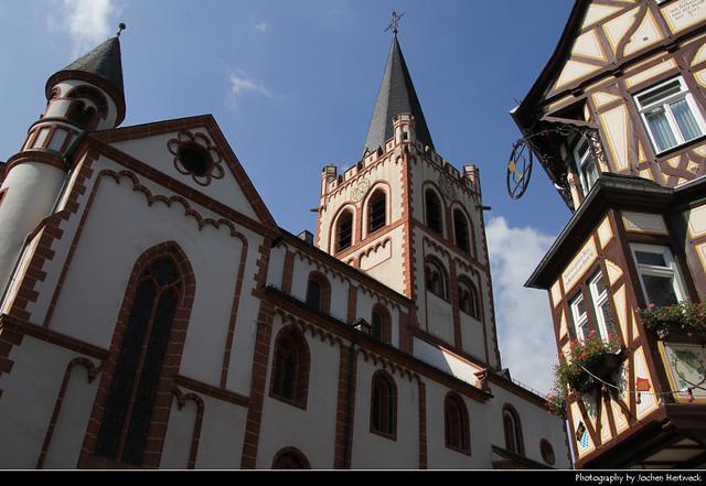 Pfarrkirche St. Peter & Timberframes, Bacharach, Germany