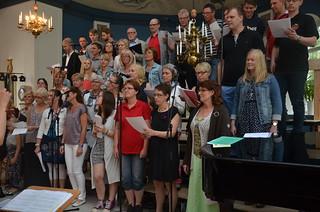 Musik i Sommarkvällen i Åsenhöga med Åsenhöga Brass Band och Sommarkören