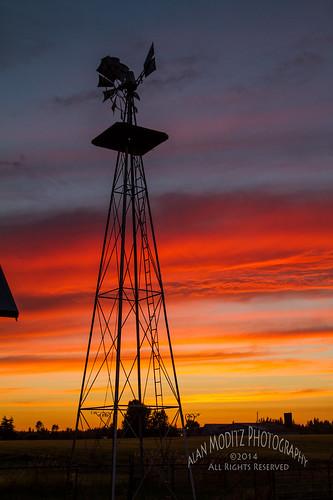 sunset sky windmill silhouette clouds evening sundown 2014