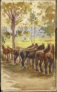 Squadron of horses [Sketchbook 14, folio 33r] / Escadron de cavalerie [Carnet de croquis 14, folio 33r]