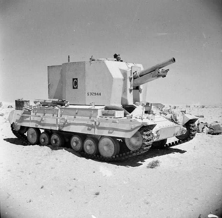 A Bishop 25-pdr self-propelled gun