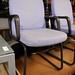Purple waiting chair