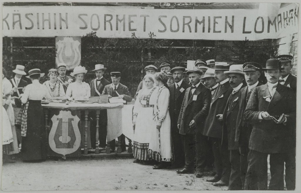 Song and music celebration in Terijoki, 1909.