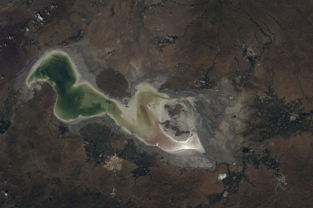 Lake Urmia, Iran (NASA, International Space Station, 07/23/14)