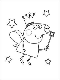 Peppa Pig14 Desenhos Do Peppa Pig Para Colorir Pintar Impr Flickr