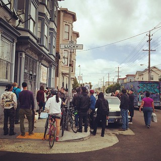 Unlucky on Lucky - another #SF eviction protest in #themission  slowly growing in size. | by Shannon Badiee