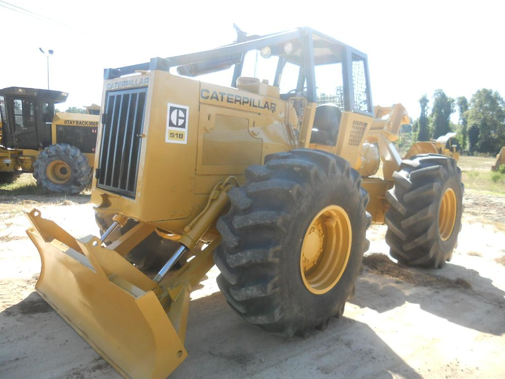 CAT 518 Cable Skidder at Forestry First | This cable skidder