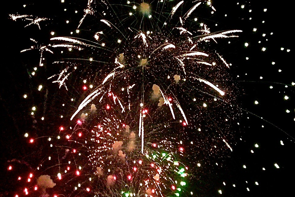 Image result for bonfire & fireworks