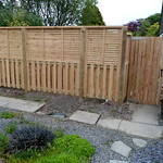 Contemporary fence and gate