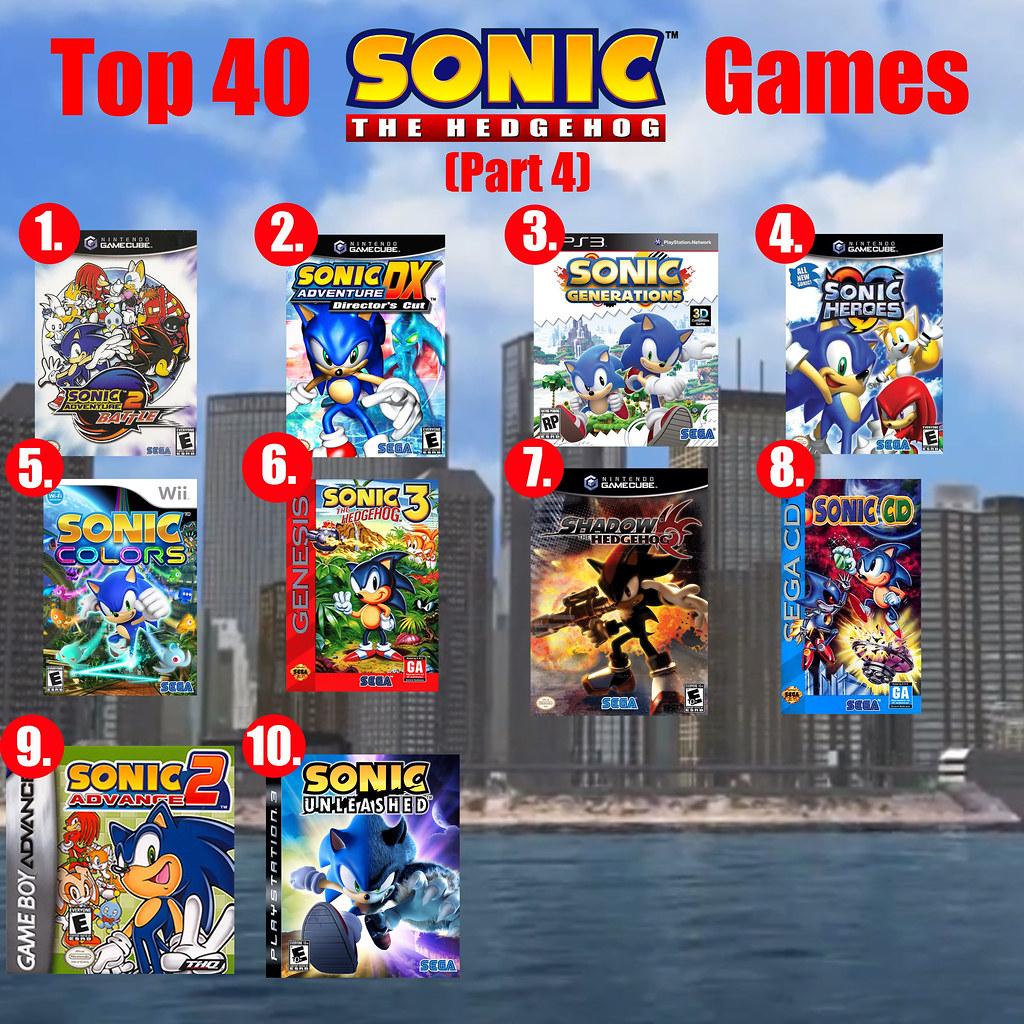 Top Ten 40 Sonic the Hedgehog Games PART 4