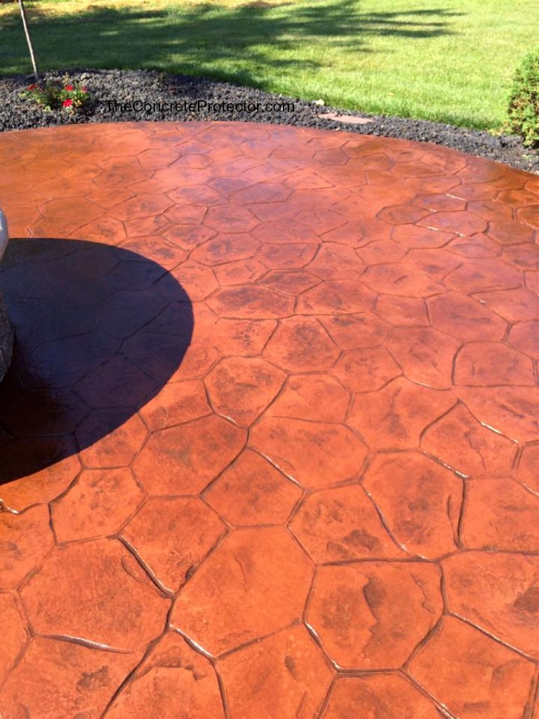 What Is The Difference Between Stamped Concrete And Stained Concrete stamped and stained concrete sidewalk- sure seal- findlay