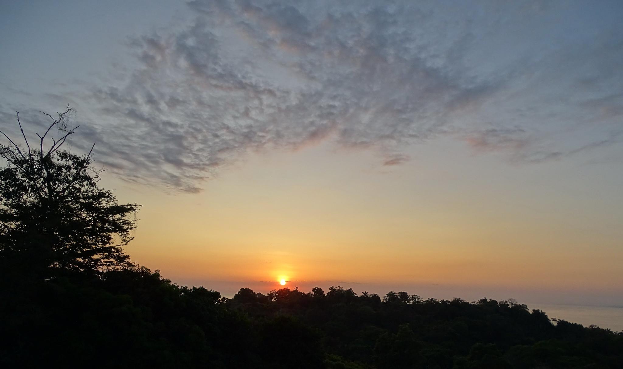 puesta de sol Parque Nacional Manuel Antonio Costa Rica