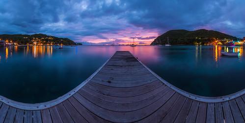 travel sunset panorama tom port landscape lights colours sonnenuntergang nightshot dom urlaub caribbean bluehour hafen landschaft coucherdesoleil guadeloupe farben departement caraibes blauestunde karibik outremer deshaies