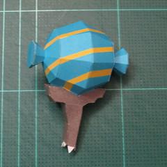 วิธีทำโมเดลกระดาษของเล่นคุกกี้รัน คุกกี้รสพ่อมด (Cookie Run Wizard Cookie Papercraft Model) 027