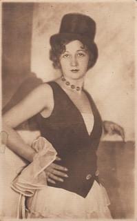 Portrait of a cabaret artiste (Tuesday, 1 March 1932)