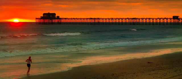 Sunset Oceanside, ca pier(2)