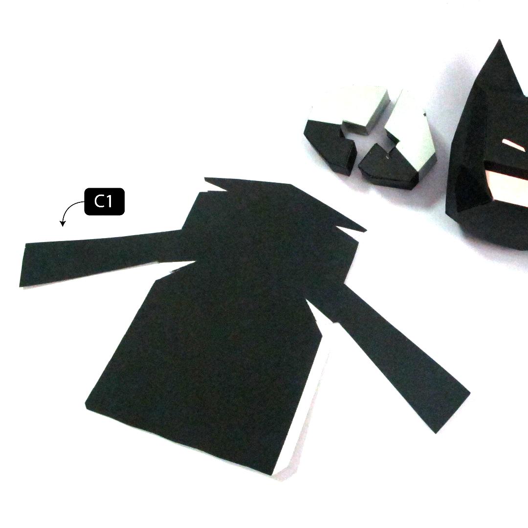 วิธีทำโมเดลกระดาษแบทแมน (Batman Papercraft Model) 020