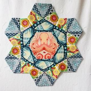 Rose Star Quilt Block