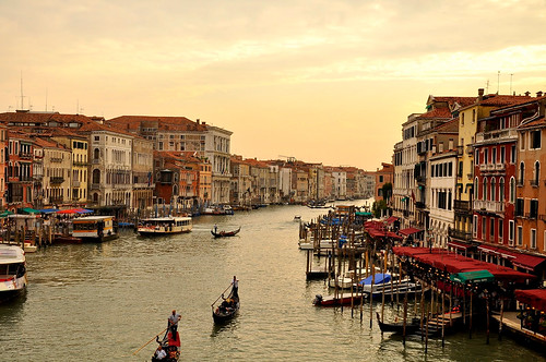 View of the Grand Canal in Venice, Italy