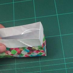 วิธีพับกล่องของขวัญแบบมีฝาปิด (Origami Present Box With Lid) 023