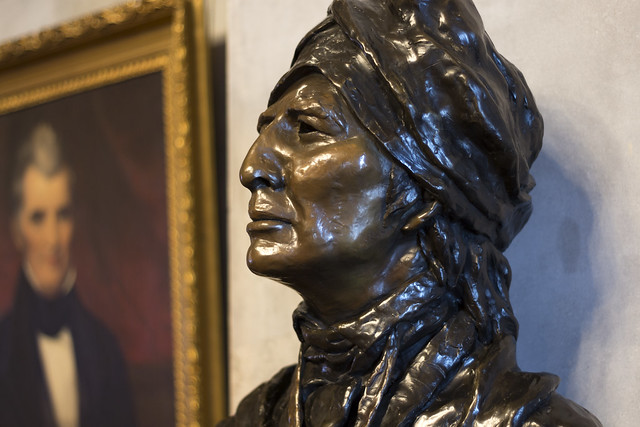 Sequoyah bust, Tennessee State Capitol, Nashville, Tennessee
