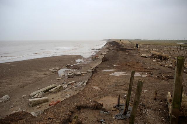 The coast at Kilnsea