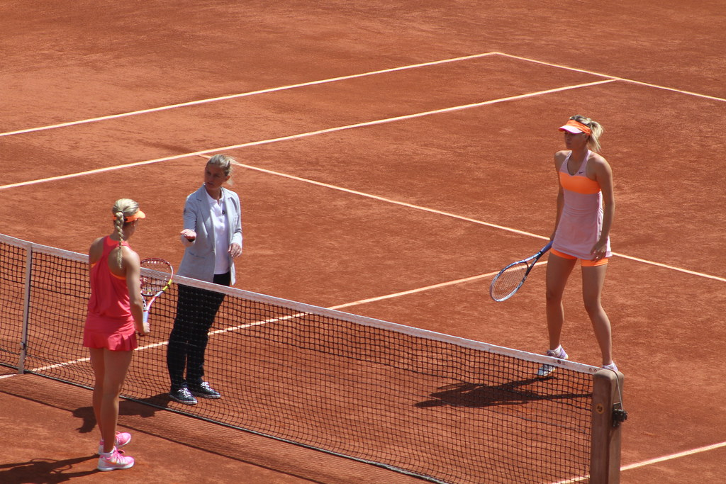 Eugénie Bouchard and Maria Sharapova