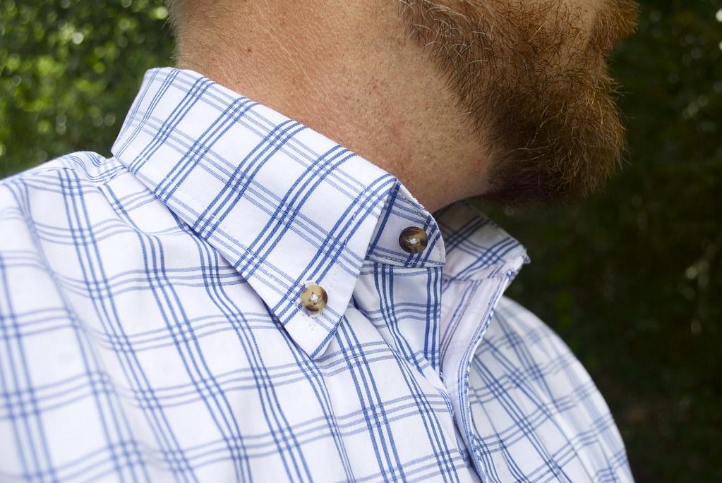 Mood Fabrics Italian Cotton Check shirting   Sallie Barbee