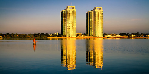 water architecture sunrise reflections fishing florida highrise flyfishing daytonabeach intercoastal