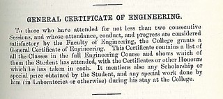 GENERAL CERTIFICATE OF ENGINEERING | by Round Person