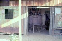 """1972 Định Tường, Huyện Chợ Gạo - Mekong Delta """"typical house"""" Vietnam village - Photo by Gene Whitmer"""