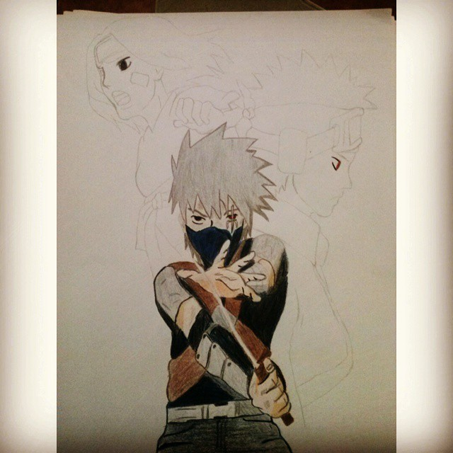 Starting Another Drawing Haaa Kakashi Obito E Rin Equip Flickr