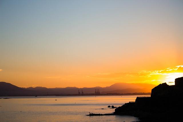 Sunset over Málaga