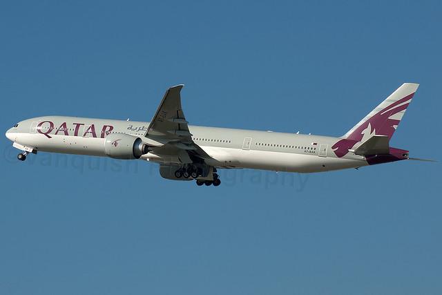 A7-BAK QATAR Airways B777-300ER London Heathrow Airport Archive