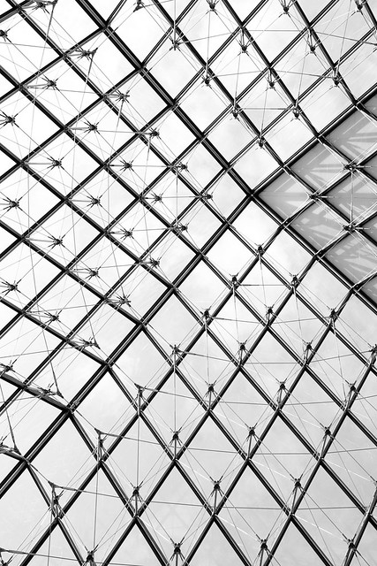Abstract Louvre Pyramid