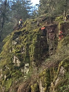 Rock scaling above SR 503 east of Woodland | by WSDOT