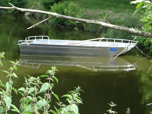 Barque en aluminium