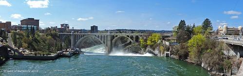 waterfalls rivers huntingtonpark spokaneriver monroestreetbridge nikonflickraward spokanewashingtonstate