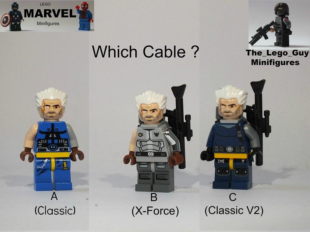 Cable NOW Marvel Super heroes X-Force X-Men mini figure LEGO Custom