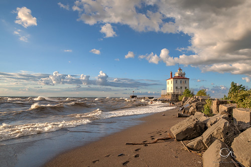 ohio lighthouse beach lakeerie hdr fairportharbor
