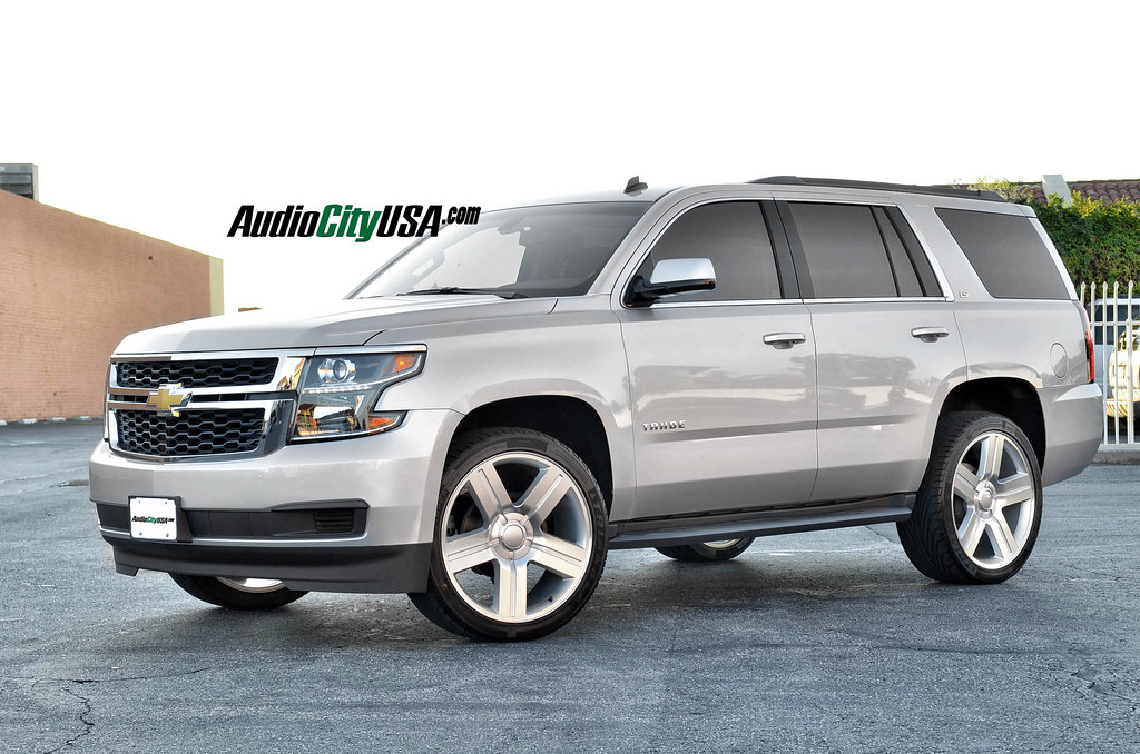 Texas Edition Tahoe >> 2015 Chevy Tahoe On 24 Texas Edition Wheels In Silver Flickr