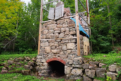 Vertical draw lime kiln c1865 - Limehouse, Halton Hills, Ontario.