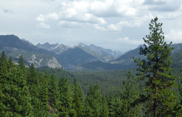 First Glimpse of the Sawtooth Range