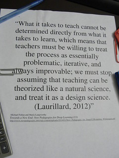 "Educational Quotation:  ""Teaching is a design science"" 