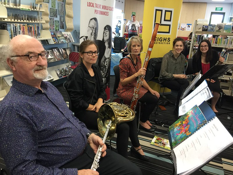 Woodwind ensemble, Papanui Library