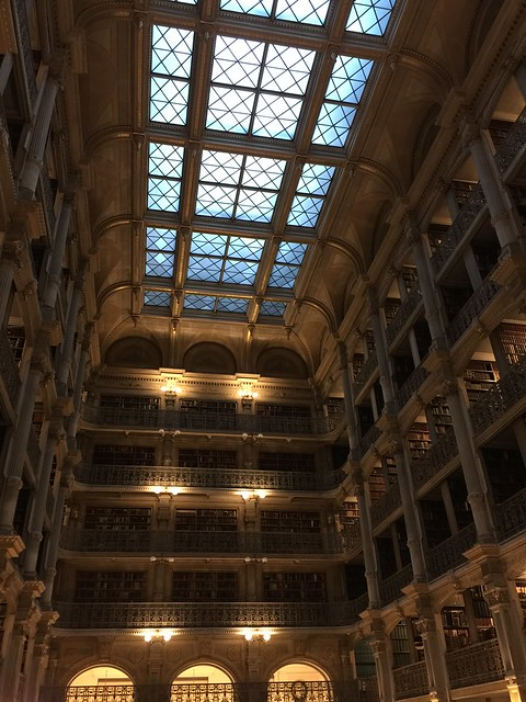 The Peabody Library, built in Baltimore in the 1870's, has been described as