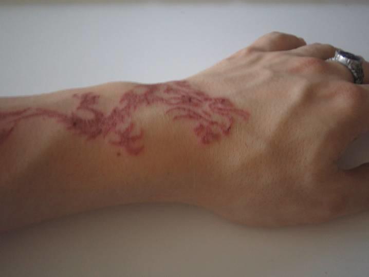 1a8792c829226 Tribal dragon tattoo - black-light / UV ink [3 of 3] | Flickr