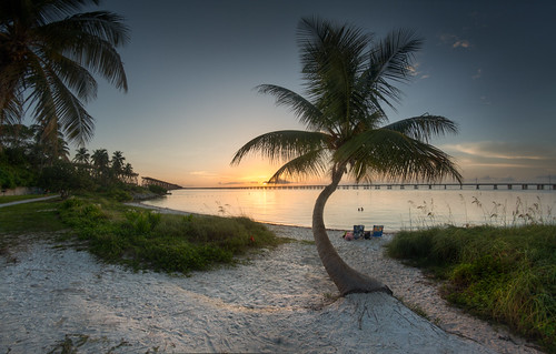 statepark sunset beach honda keys sand florida palm bahia vacations hdr