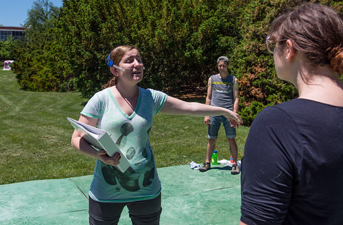 Students prepare for the 54th Summer Circle Theatre season. There will be five free shows in three weeks!!. Free theatre  performed by The Rock. Check out MSU Theatre for shows and times. (Photo/D.L. Turner)